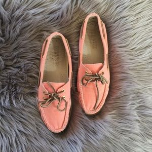 J Crew Sperry Canvas Loafers 10